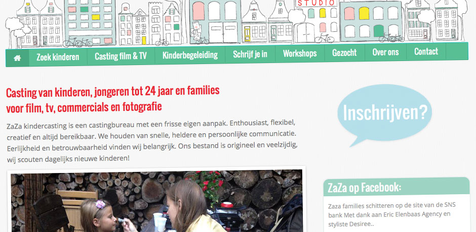 website voor modellenbureau